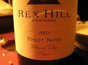 Rex Hill wine