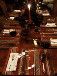 Table set for dinner