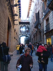 Gothic alleyway