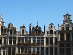 Houses on the Grand Place in Brussels
