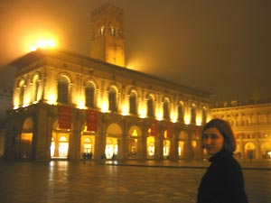Me on the piazza at night