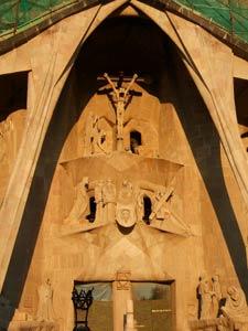 Passion façade of Sagrada Familia