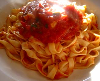 Yummy plate of pasta