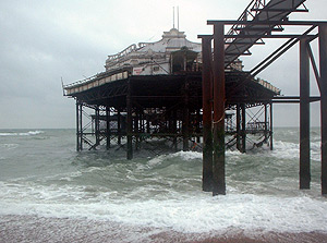 West Pier on a stormy day