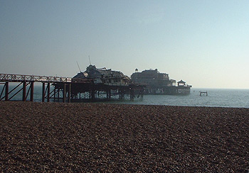 Partially collapsed West Pier