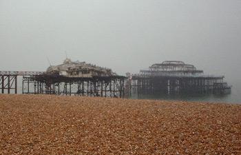 Burned West Pier