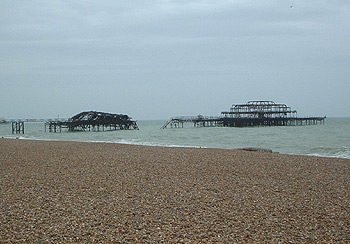 Totally burned West Pier